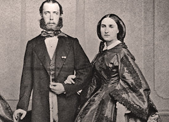 Emperor Maximilian of Mexico with his wife Charlotte (Carlota)