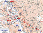 Map of the Battles of the Meuse-Argonne - Sept 26-Nov 11, 1918