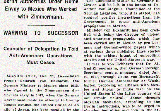 Timeline of the Mexican Revolution 1918