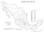 Mexico - States and Capitals 1975