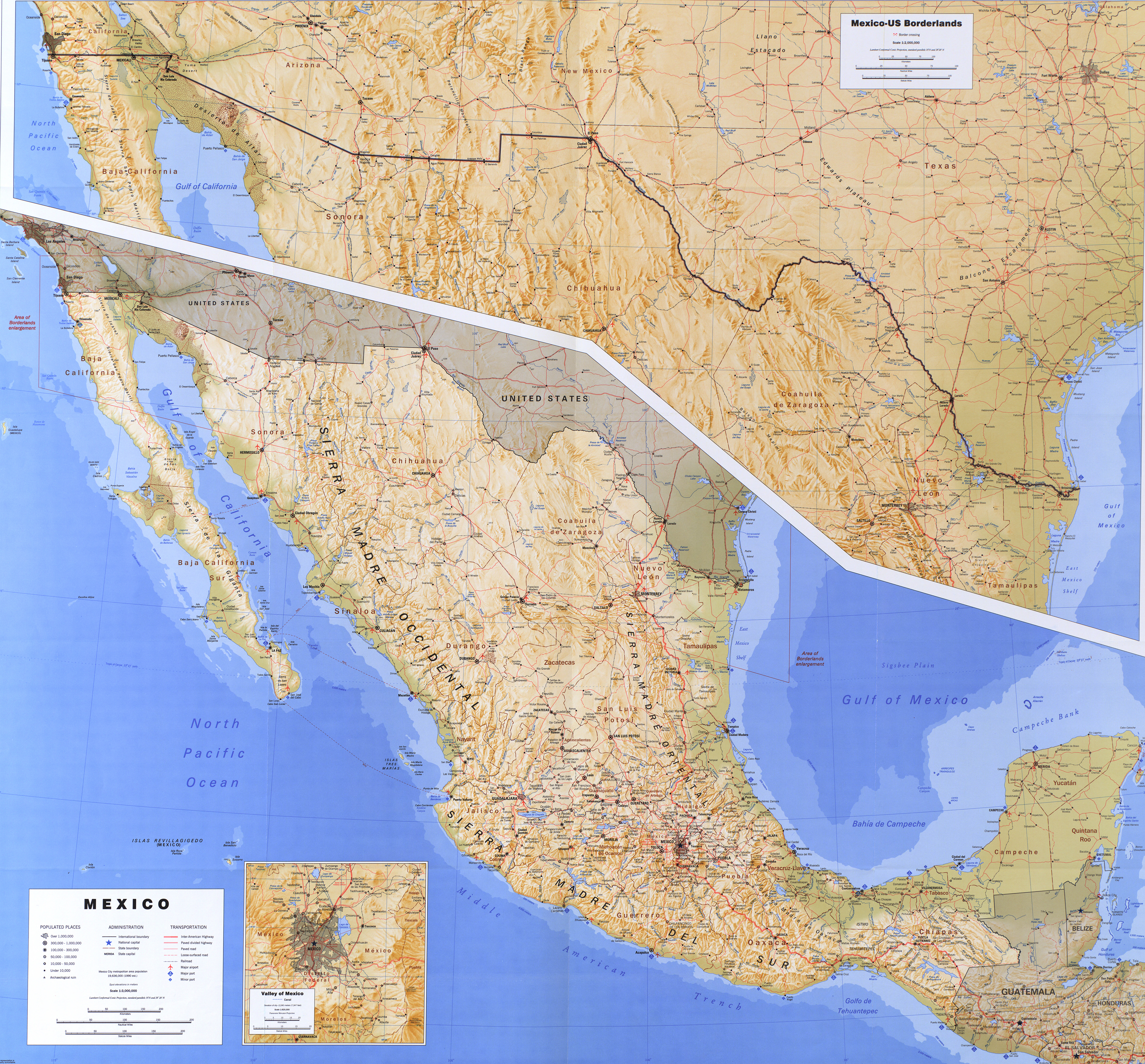 Map Of Mexico 1993