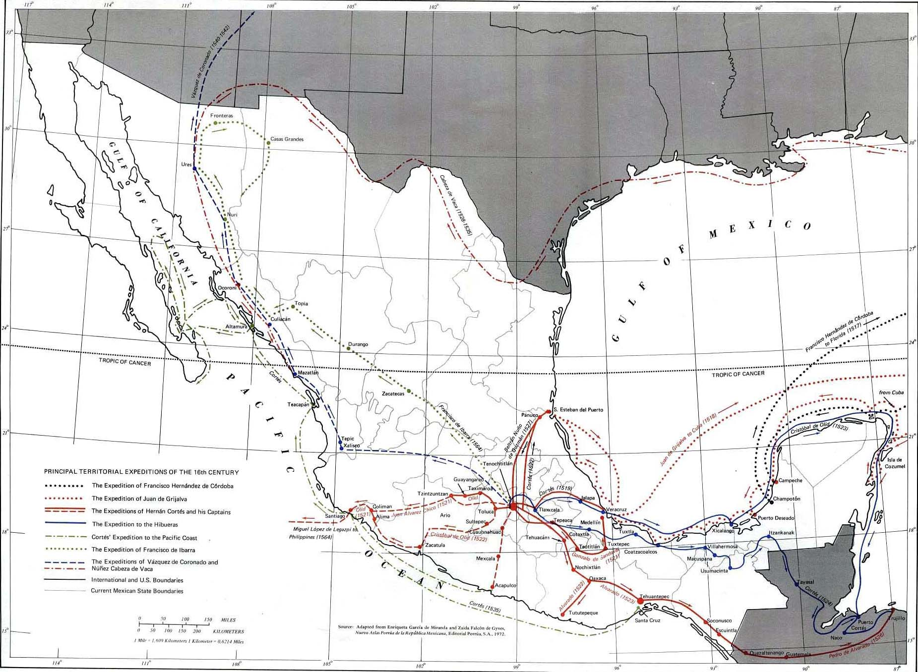 Mexico 16th Century - Expeditions