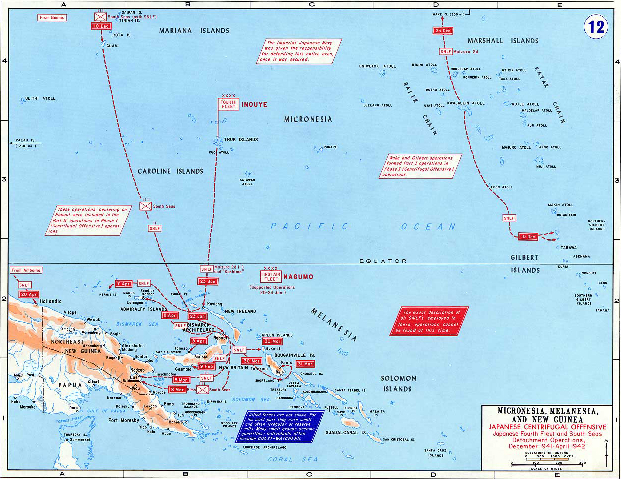 Map of wwii micronesia melanesia and new guinea 194142 map of world war ii pacific micronesia melanesia and new guinea gumiabroncs Choice Image