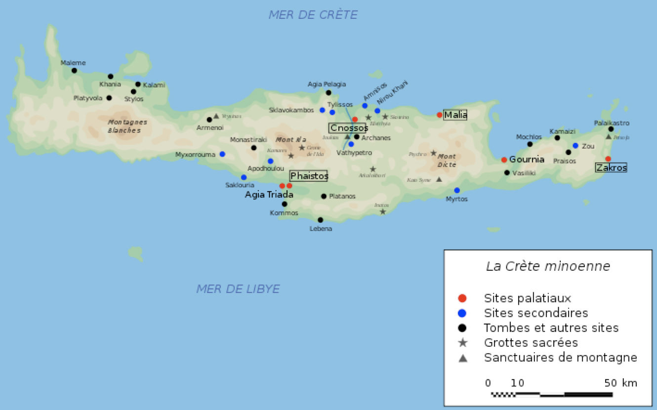 Map of minoan crete historical map of minoan crete gumiabroncs Choice Image