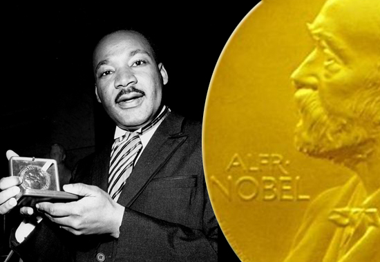 MARTIN LUTHER KING RECEIVES THE NOBEL PRIZE FOR PEACE - 1964