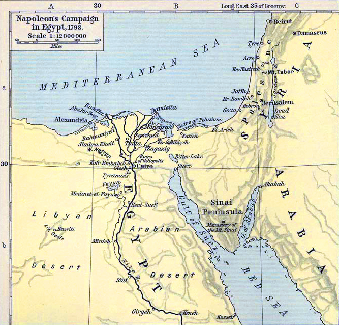 maps of egypt. Map Description