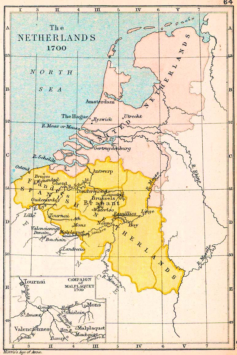 Map of the Netherlands - 1700