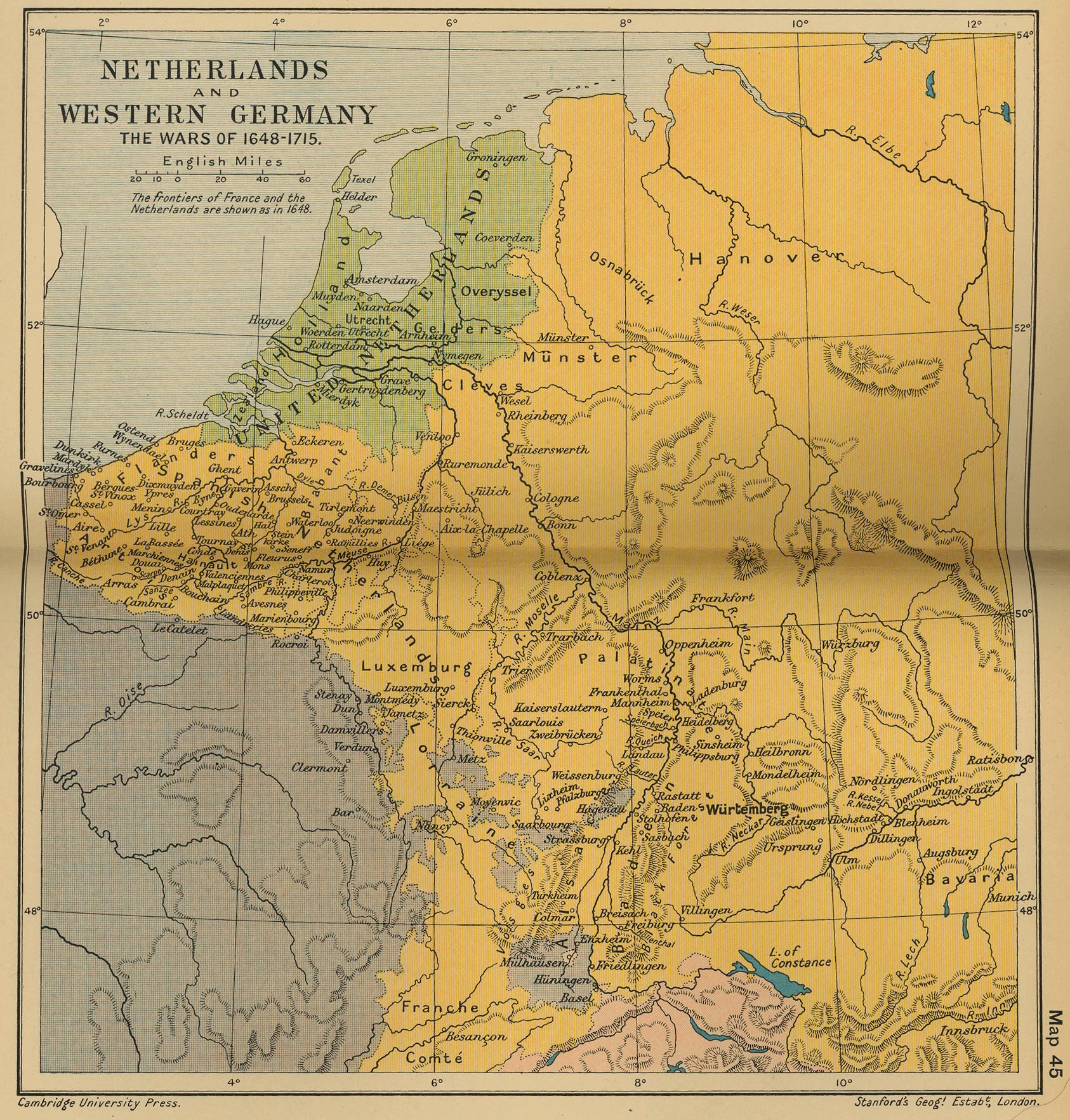 of the Netherlands and Western Germany 16481715