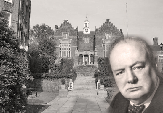 WINSTON CHURCHILL AND THE HARROW SCHOOL IN LONDON