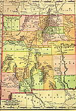 Map of 1895 New Mexico