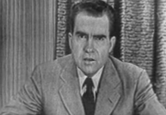 NIXON ASSERTS HIS INNOCENCE ON TV - THE BEGINNING OF A HABIT 1952
