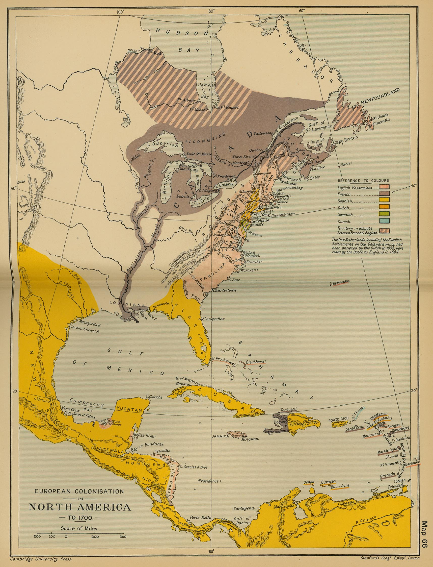 Map Of North America - Map of us 1700
