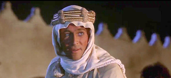 Peter O'Toole is Lawrence of Arabia, 1962