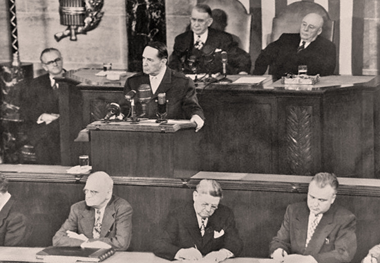 DOUGLAS MACARTHUR ADDRESSES JOINT SESSION OF CONGRESS 1951