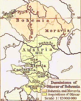 Map of the Dominions of Ottocar of Bohemia in 1378