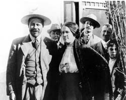 Pancho Villa and his wife Luz Corral