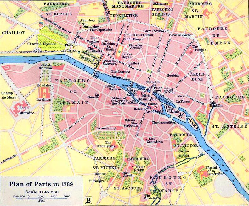 map of paris 1789