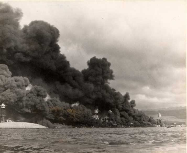 Photo of Pearl Harbor on December 7, 1941