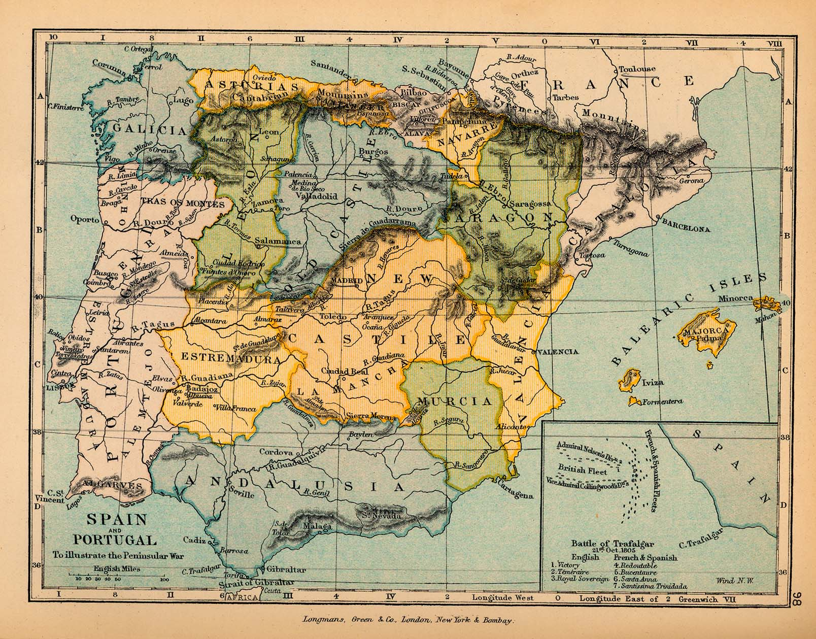Map Of Spain And Portugal - Spain historical map