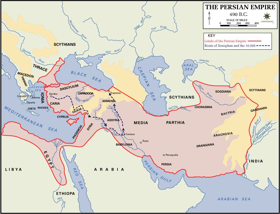 of the persian empire 490 bc