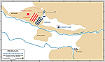 Map of the Battle of Pharsalus 48 BC