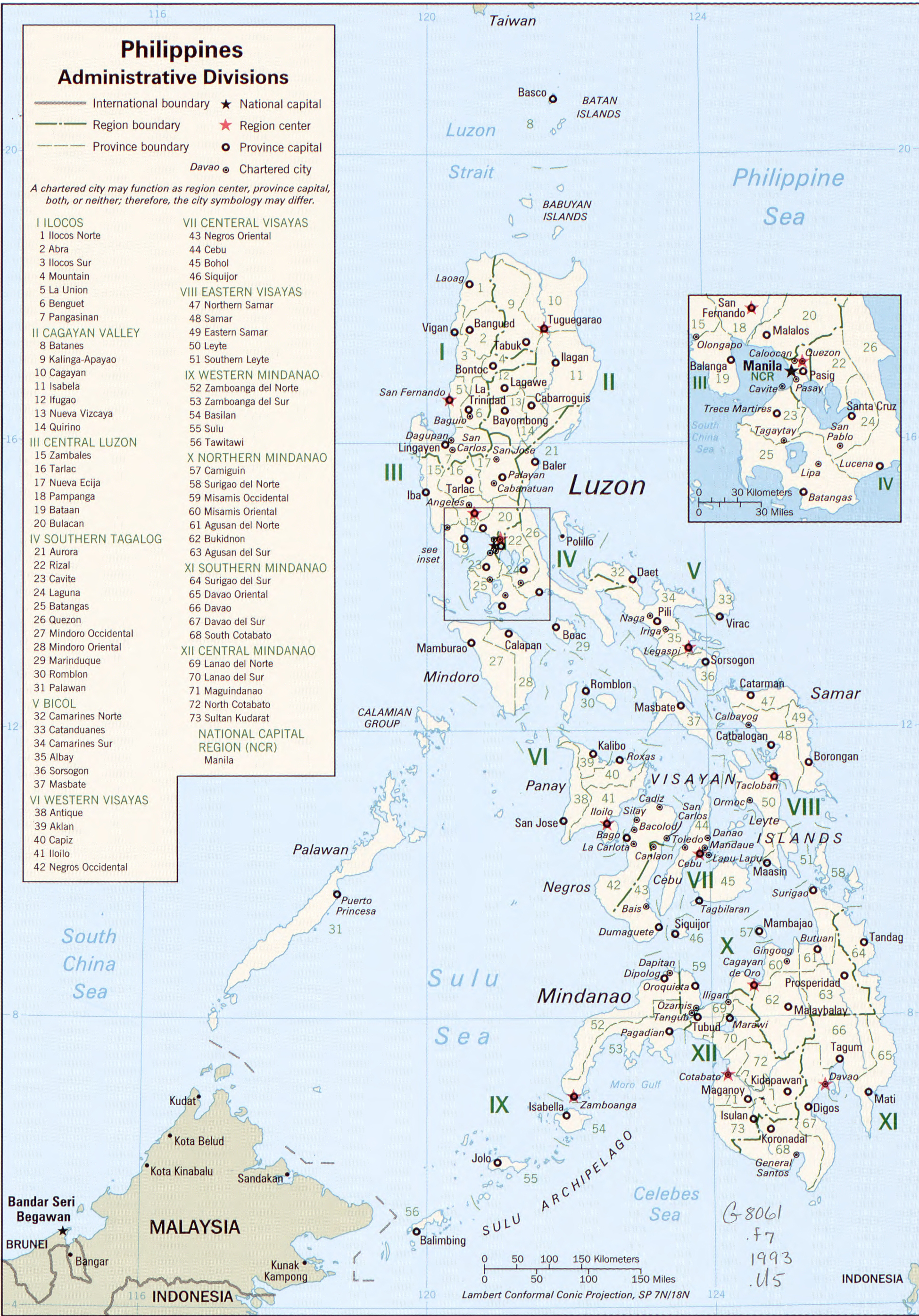 Map of the Philippines 1993