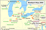 Map Pontiac's Rebellion 1763-1766
