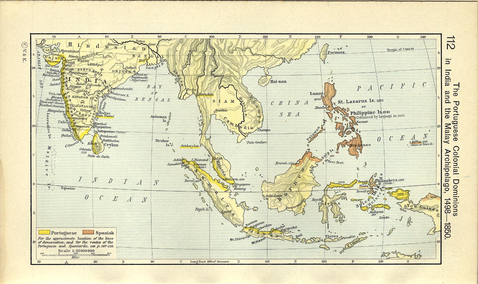 The Portuguese In The Age Of Discovery C 1340 1665 By: Map Of India And The Malay Archipelago 1498-1850