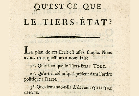 What is the third estate siey s 1789 for Qu est ce que le minimalisme
