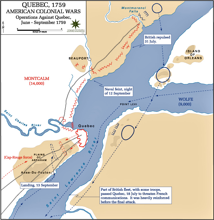 Map Of The Siege Of Quebec USMA - Map of quebec