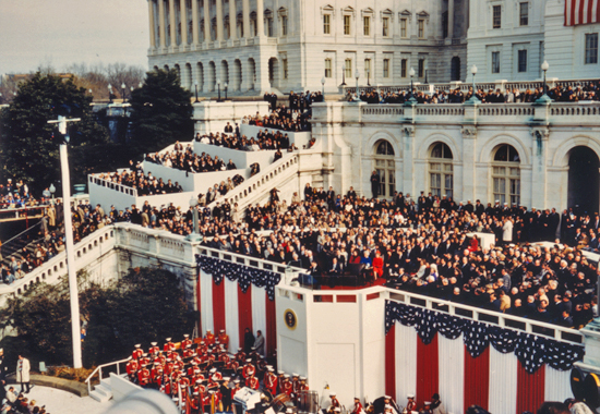 analysis of ronald reagans first inaugural In his first career, ronald reagan was a mediocre film actor never able to crack hollywood's a-list, reagan was relegated through the 1930s, '40s, and '50s to roles in a string of mostly forgettable b-movies, including one—bedtime for bonzo (1951)—that cast him ingloriously opposite a.