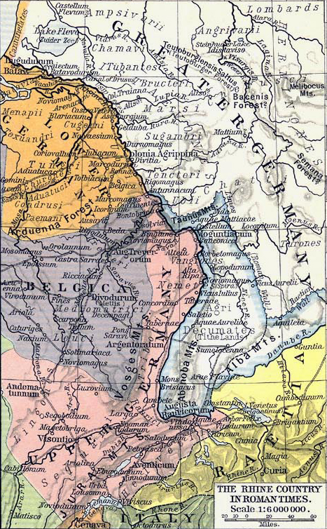 History map archive 100 bc to ad 500 rhine country 1st century ad publicscrutiny Images