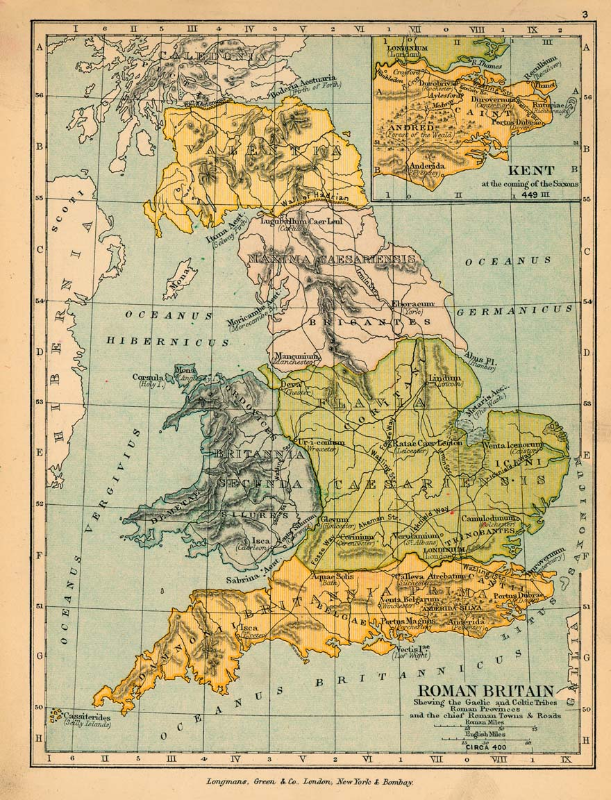 Map Of England 600 Ad.Map Of Roman Britain 400