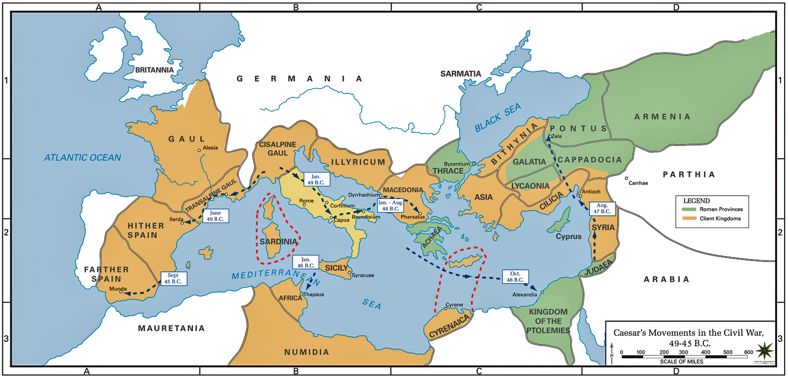 Roman Empire Map 44 Bc