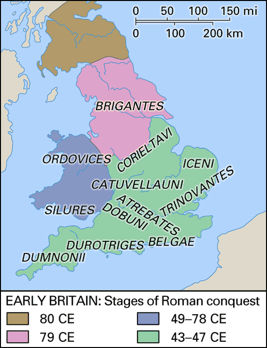 Roman Britain AD - Map of rome 400 ad