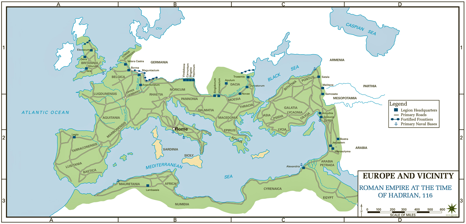 roman empire to 117 ad map Map Of The Roman Empire Ad 117 Usma roman empire to 117 ad map