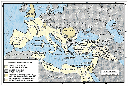 The roman empire during the reign
