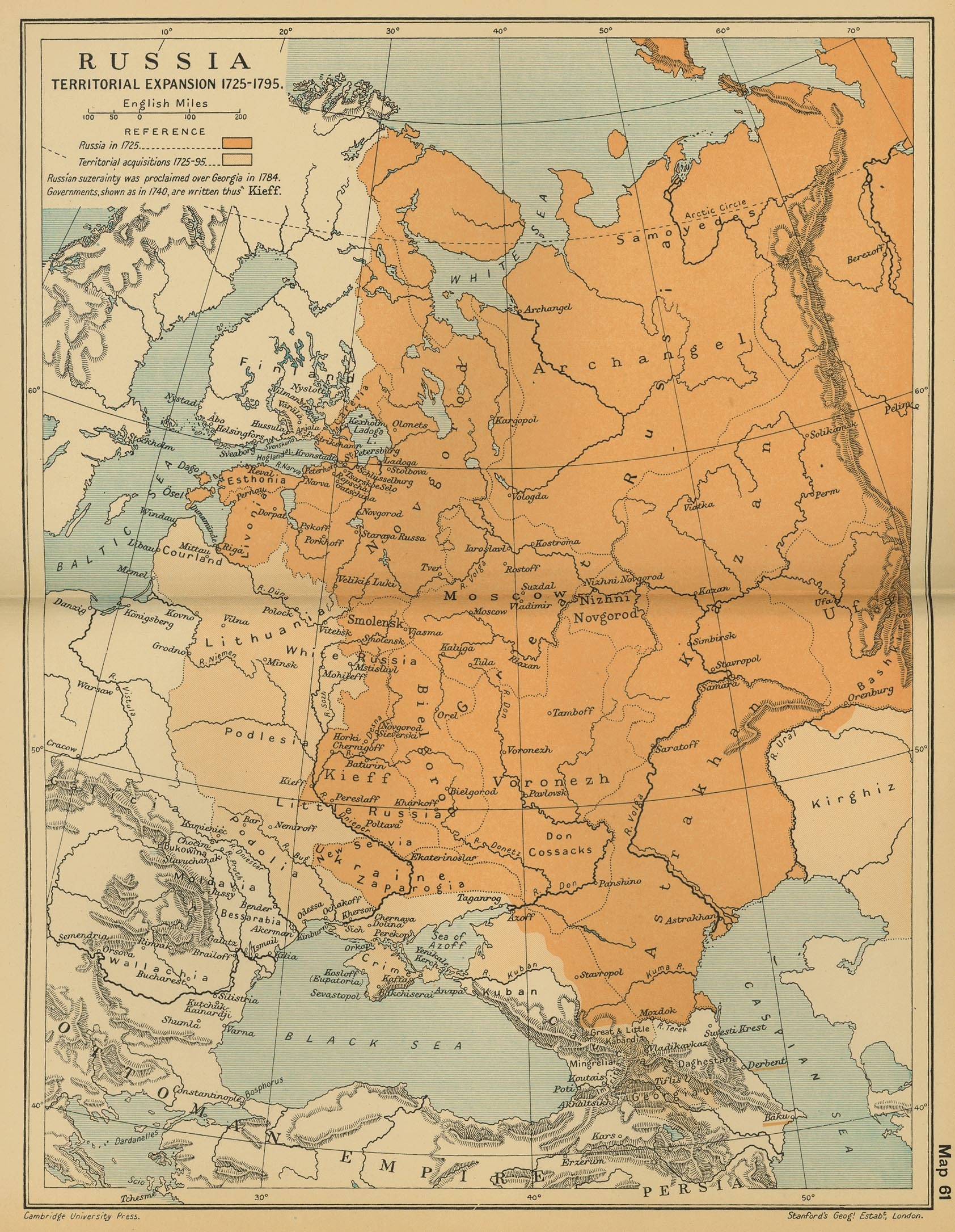 Of Russia - Map russia