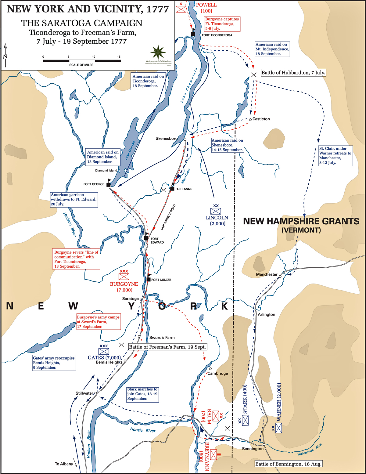 Of The Saratoga Campaign - Battle of saratoga us maps
