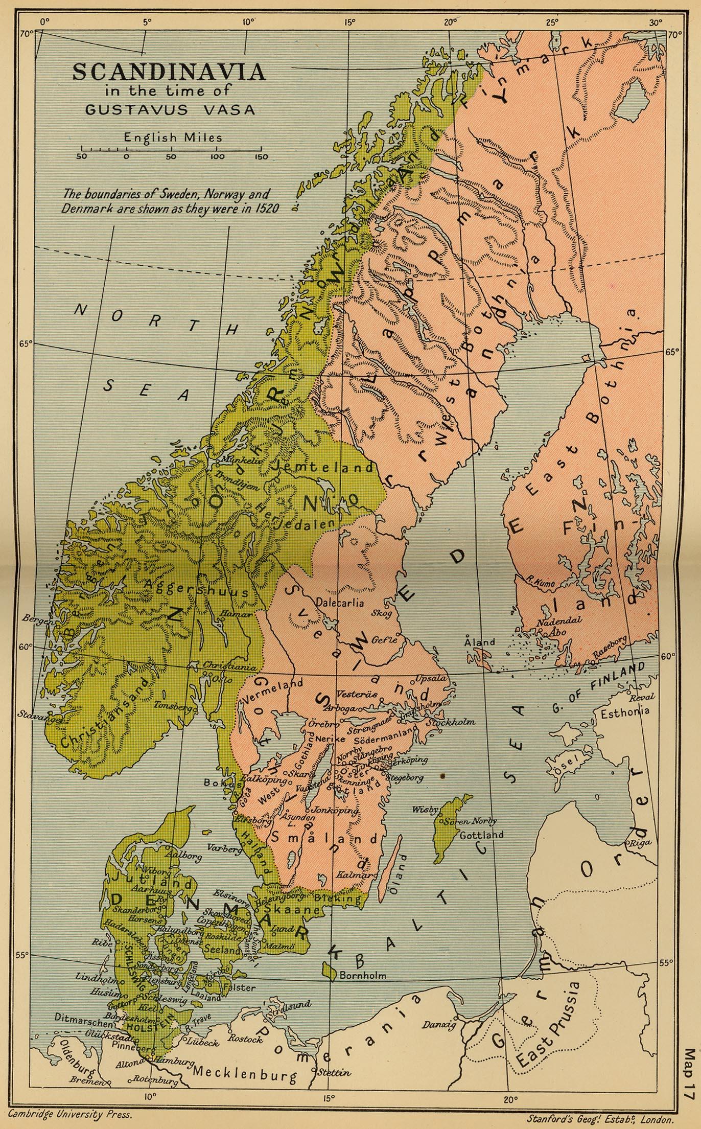 of Scandinavia 1523