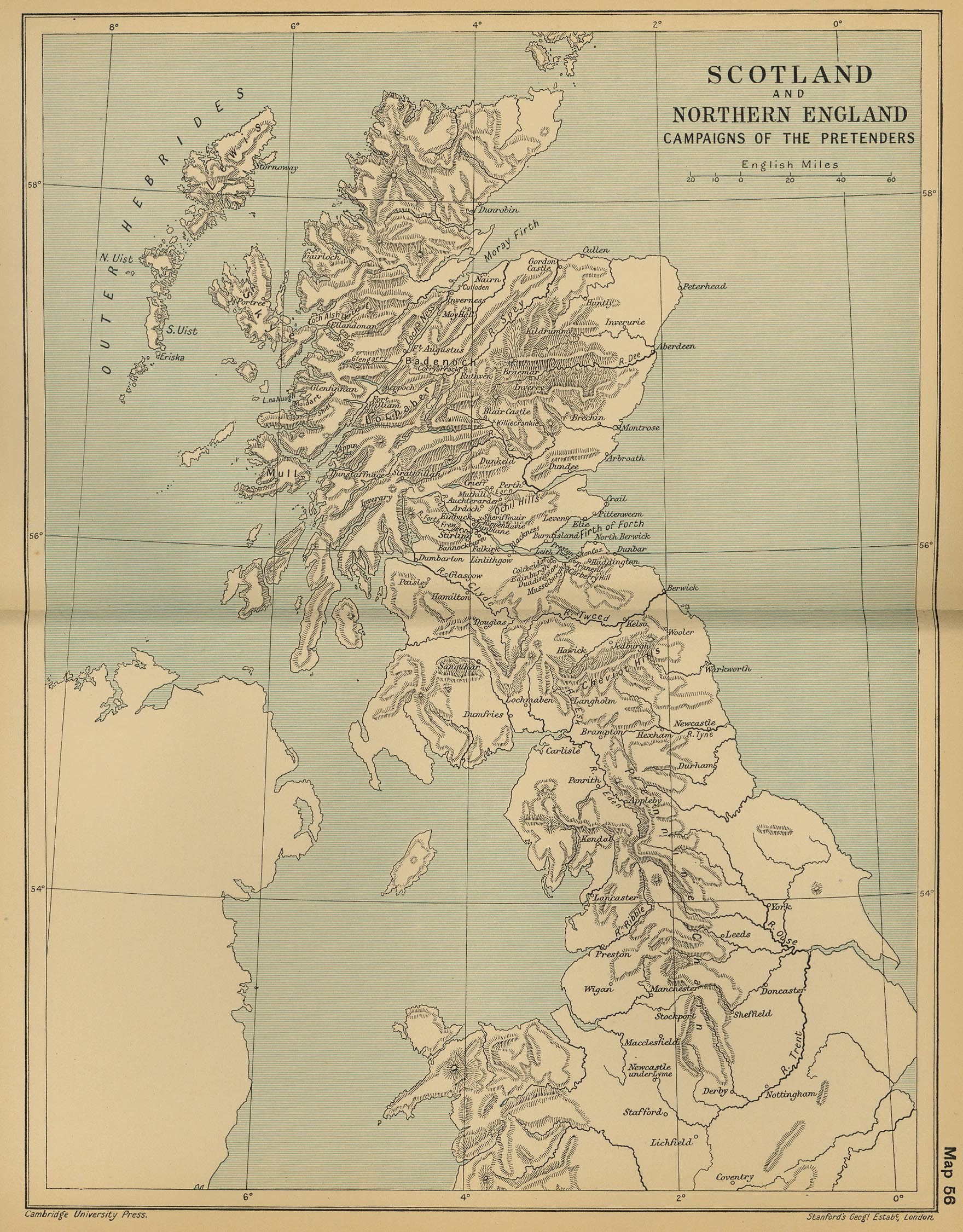 history map of scotland and