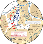 Map of the Second Battle of Bull Run - August 30, 1862