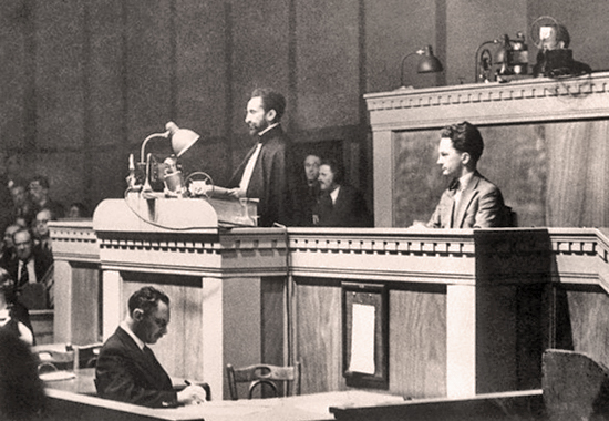 EMPEROR HAILE SELASSIE BEFORE THE LEAGUE OF NATIONS - 1936