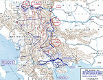 Map of WWI: Serbia and the Salonika Expedition - October 7, 1915