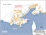 Map of the Siege of Louisbourg - June 1745