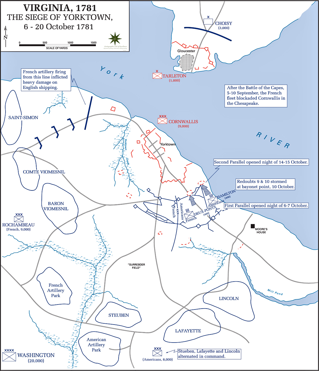 Of The Siege Of Yorktown September October - Map of us 1781
