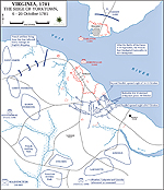 Map of the Siege of Yorktown - September 28-October 19, 1781