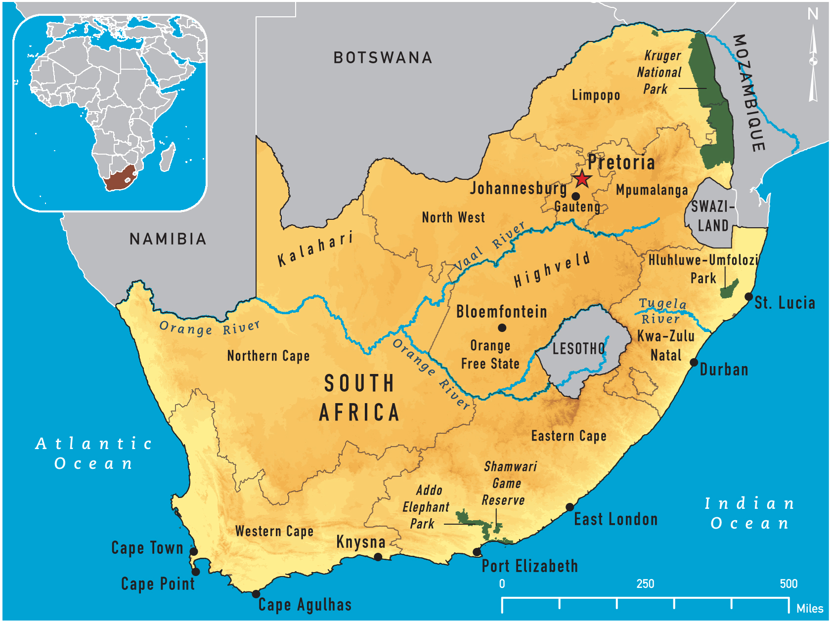 Map Of The Orange River South Africa Map of South Africa 2011