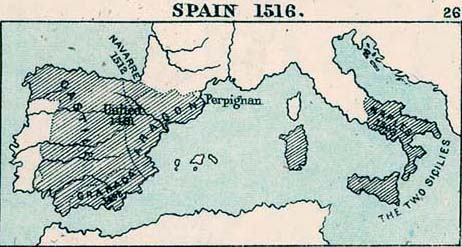 Map of Spain 1516