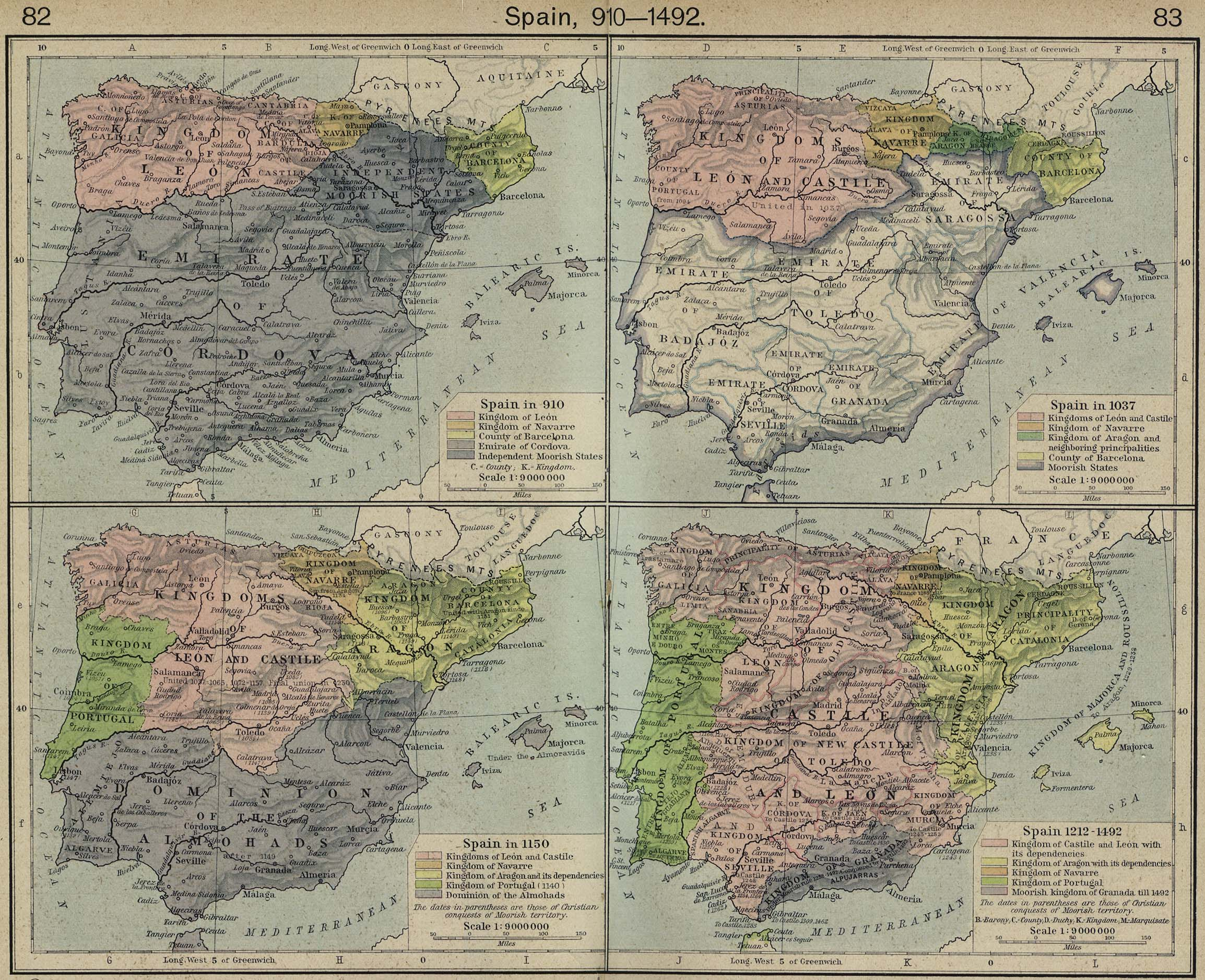 Map Of Spain - Spain historical map